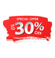 discount 30 percent in paper style vector image vector image