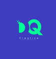 dq letter logo design with negative space concept vector image vector image