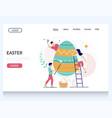 easter website landing page design template vector image