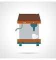 Espresso coffee machine flat icon vector image