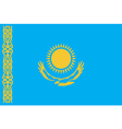 Flag of Kazakhstan vector image