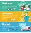 Flat Medicine Banner Set vector image vector image