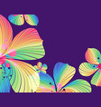 floral background multicolored flowers on purple vector image vector image