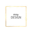 frame-empty-gold-one vector image vector image