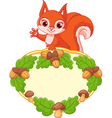 Frame with squirrel vector image