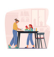 happy family of mother and teenage daughter vector image vector image