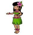 hawaiian hula dancer girl vector image vector image
