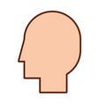 Head profile isolated icon vector image