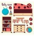 Interior of baby room vector image