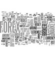 is forex for me text background word cloud concept vector image vector image
