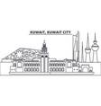 kuwait kuwait city line skyline vector image vector image