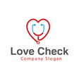 Love Check Design vector image vector image