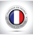 made in france flag metal icon vector image vector image