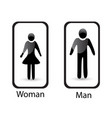 man and woman identity symbol vector image