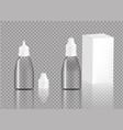 mock up realistic transparent bottle eye drop vector image