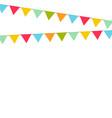 multicolored bright buntings garlands vector image