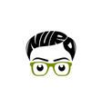 nerd logo design vector image vector image