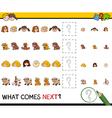 pattern activity for preschoolers vector image vector image