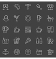 Restaurant and bar line icons vector image