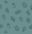 retail outline isometric pattern vector image vector image
