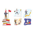 set characters developing mind issues self vector image vector image
