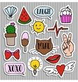set fashion patches badges and stickers vector image