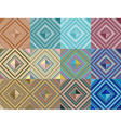 Set of seamless pattern abstract shape background vector image vector image