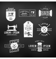Set of vintage tailor labels emblems and design vector image vector image