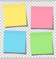 set yellow green blue and pink paper sticky vector image vector image