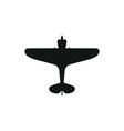 simple black Screw Aeroplane icon on white vector image