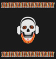 skull with a red beard vector image