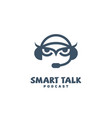 smart talk logo vector image