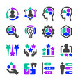 talent icon set vector image vector image