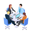 teamwork isometric business meeting people vector image vector image