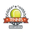 tennis championship ball star banner vector image vector image
