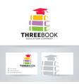 three book logo design vector image vector image