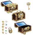 Treasure chest decorated with jeweled ornaments vector image vector image