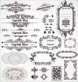 vintage ornamental calligraphic designs set vector image vector image