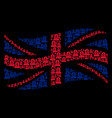 waving united kingdom flag collage of grave icons vector image vector image