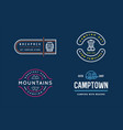 wilderness camping logo templates sign design vector image vector image