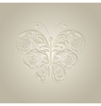Paper butterfly on beige background vector image
