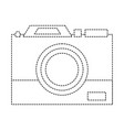 dotted shape digital camera technology equipment vector image