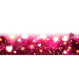 Pink luminous banner with hearts vector image