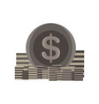 icon coin stack money gold bank sign finance vector image