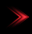 abstract red light arrow speed direction on black vector image vector image