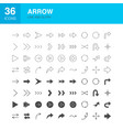 arrow line web glyph icons vector image