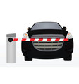 barrier in front of car vector image vector image