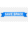 blue ribbon with save space caption vector image vector image