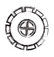 blurred thick contour gear wheel pinion icon vector image vector image