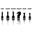 Chess pieces silhouette set vector image